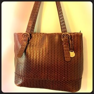 Brahmin Leather Woven Tote 👜